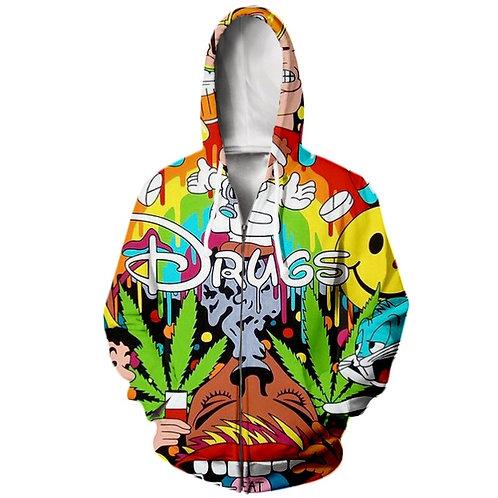 PLstar Cartoon Drugs Printed Hoodie/Sweatshirt
