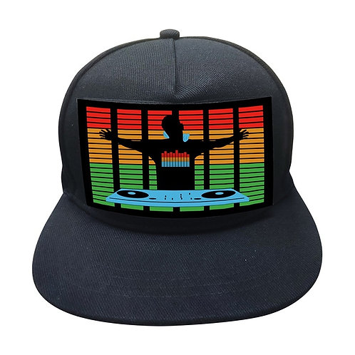 Snapback Sound Activated LED Hat With Detachable Screen