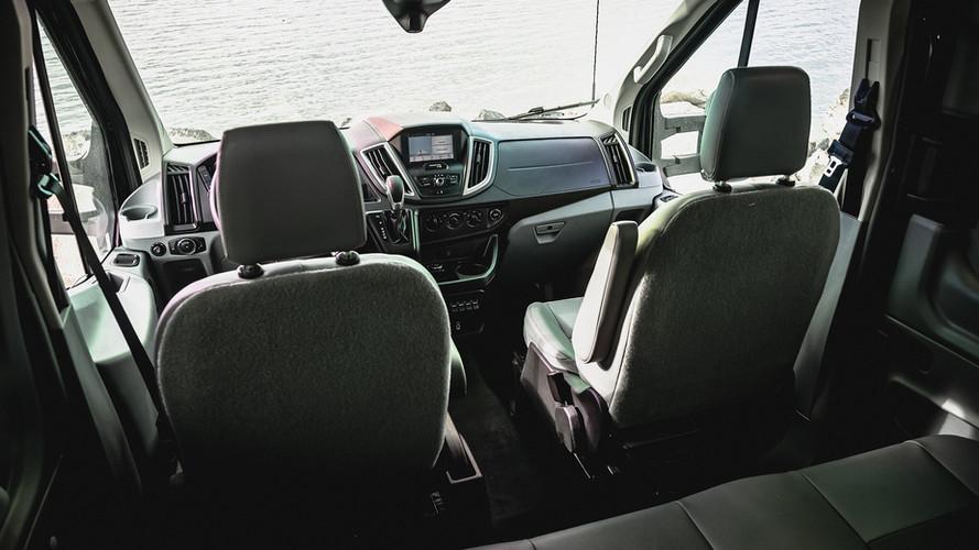 FORD TRANSIT CREWVANCO BACK SEAT DETAIL