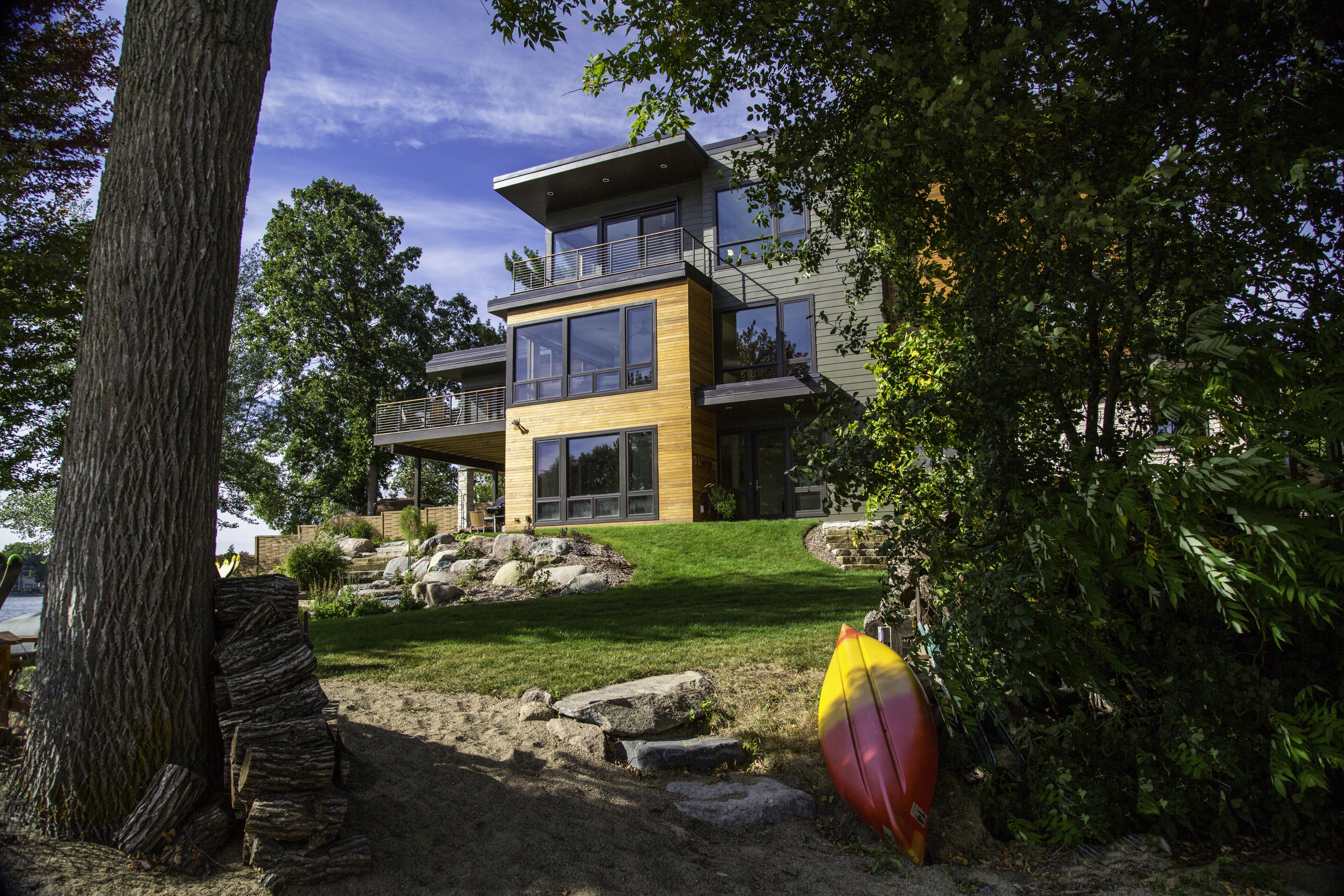 Exterior View 2 Lakefront Modern