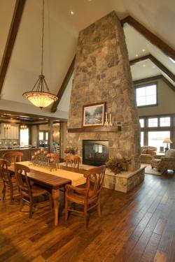 Stone Fireplace Prior Lake Lodge