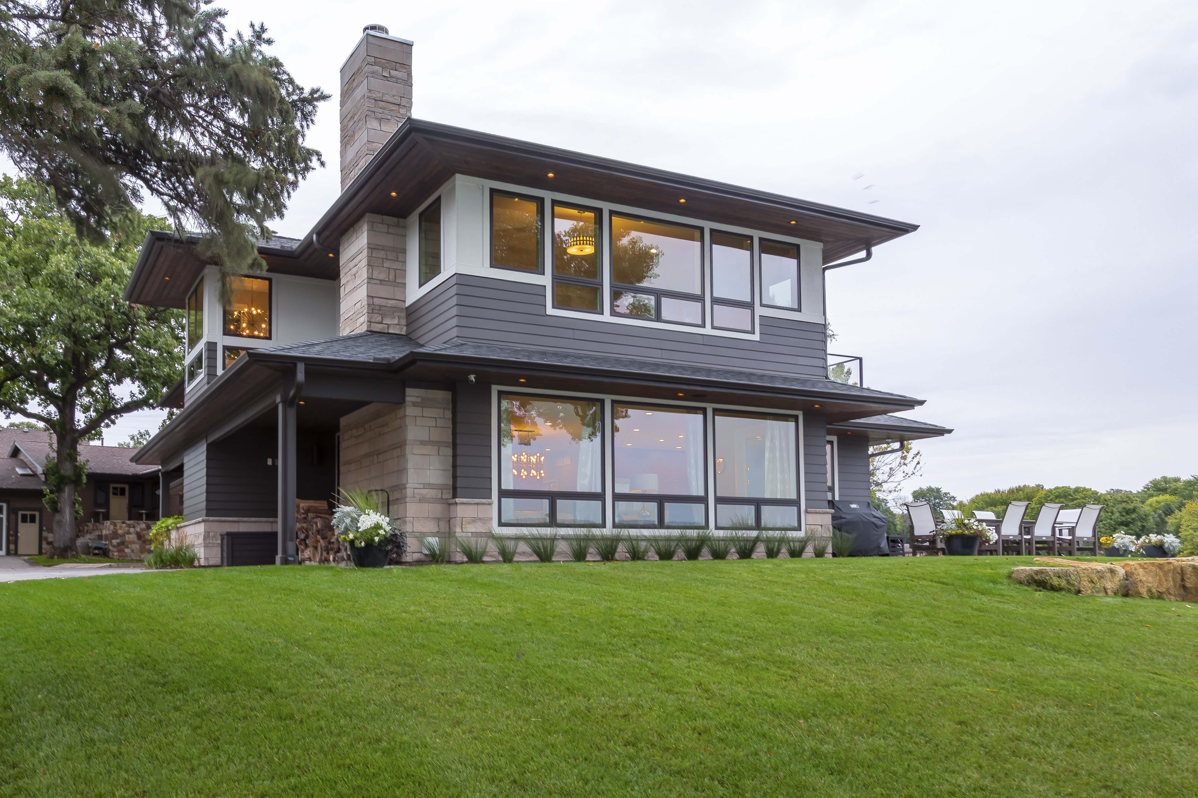 Front View Prior Lake Modern