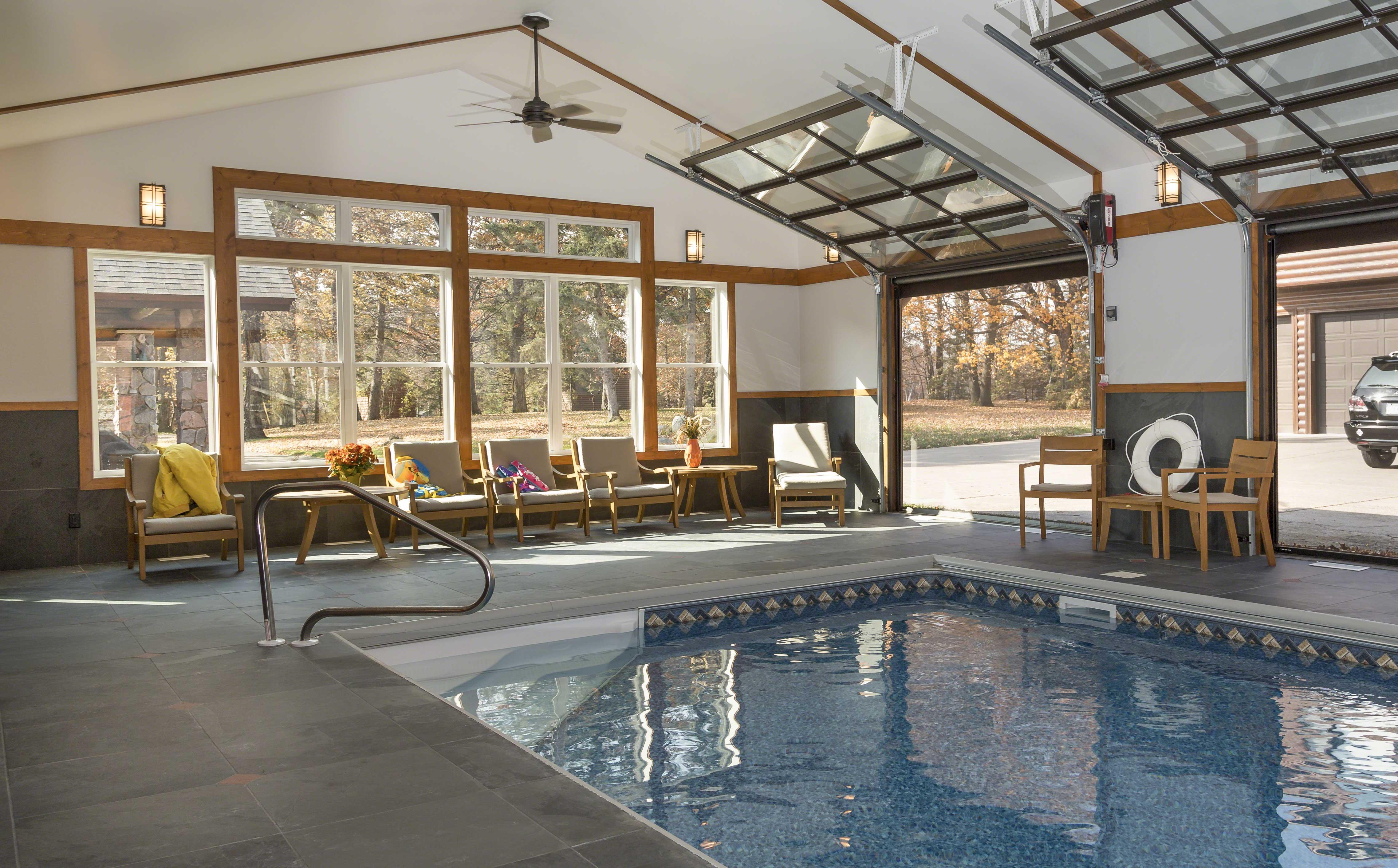 Pool House 1 Cross Lake Cabin