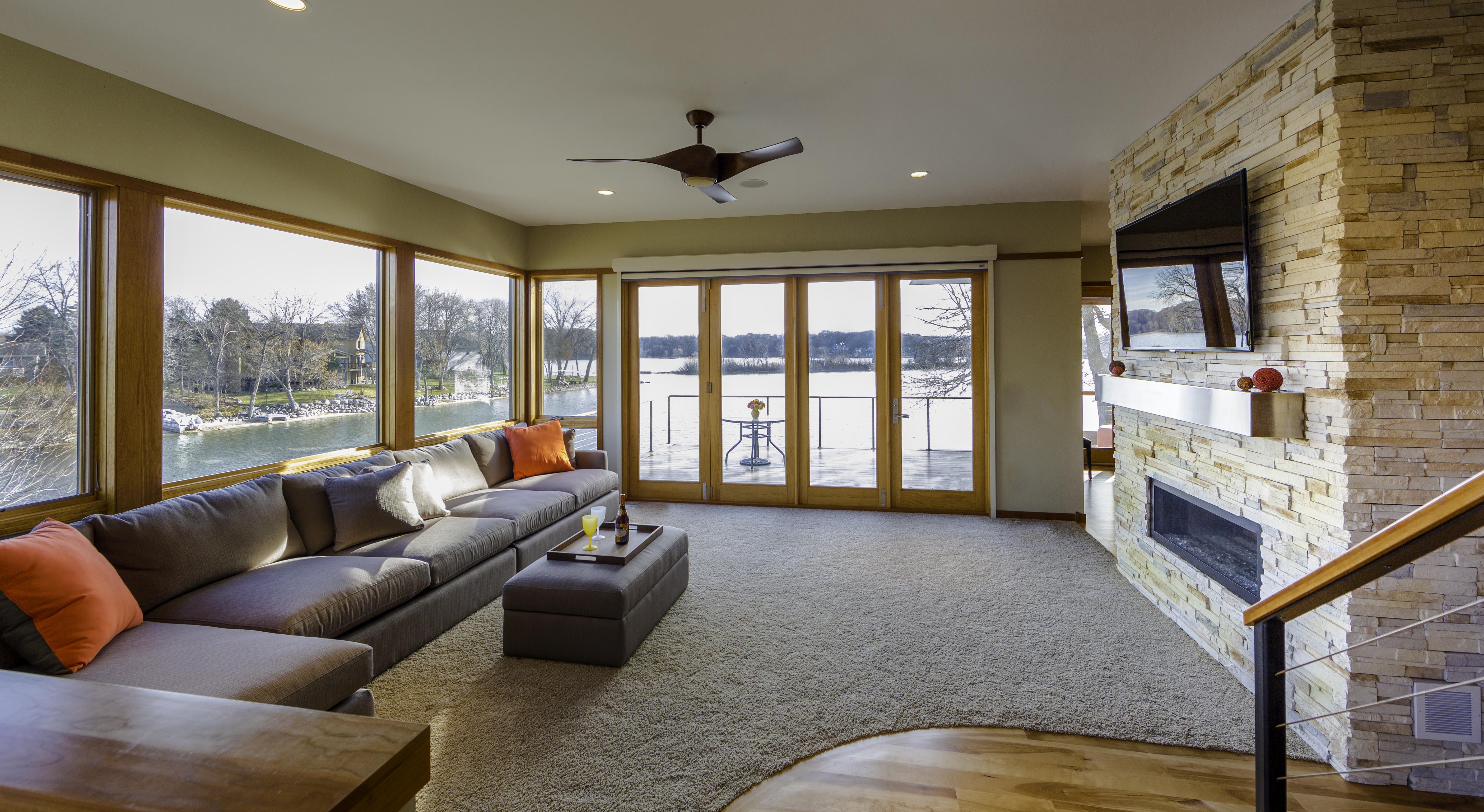 Living Room Lakefront Modern