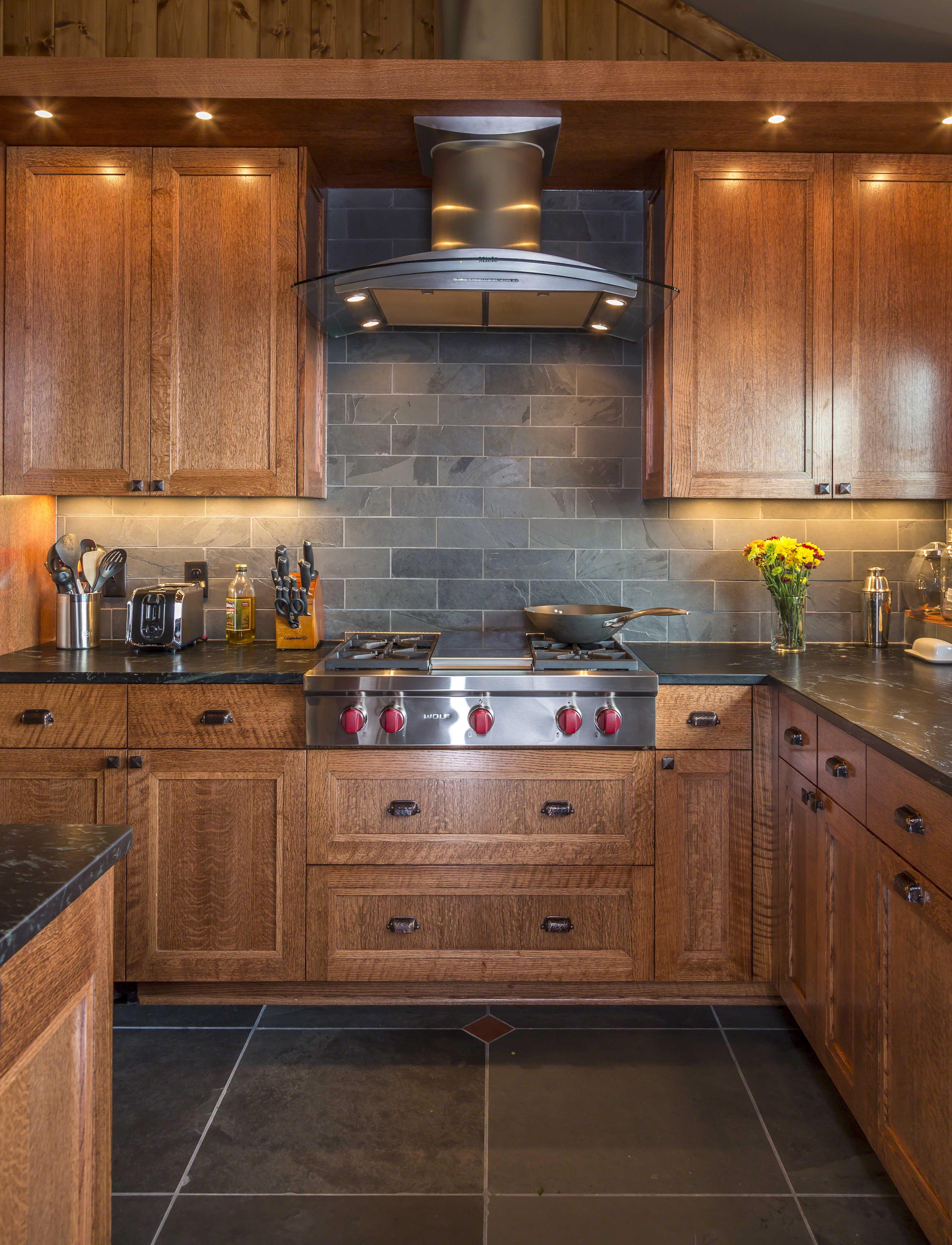 Kitchen Cross Lake Cabin