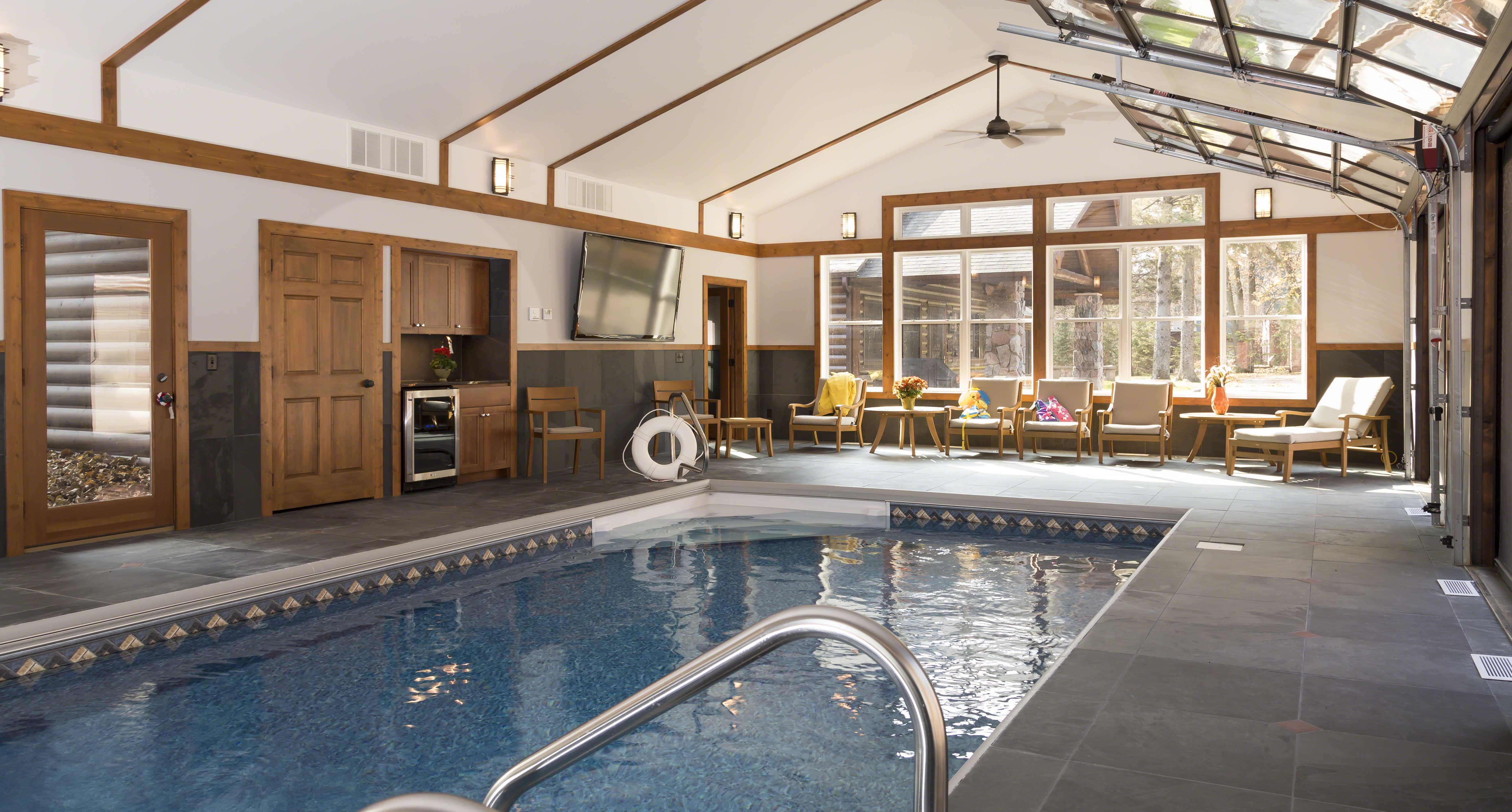 Pool House 2 Cross Lake Cabin
