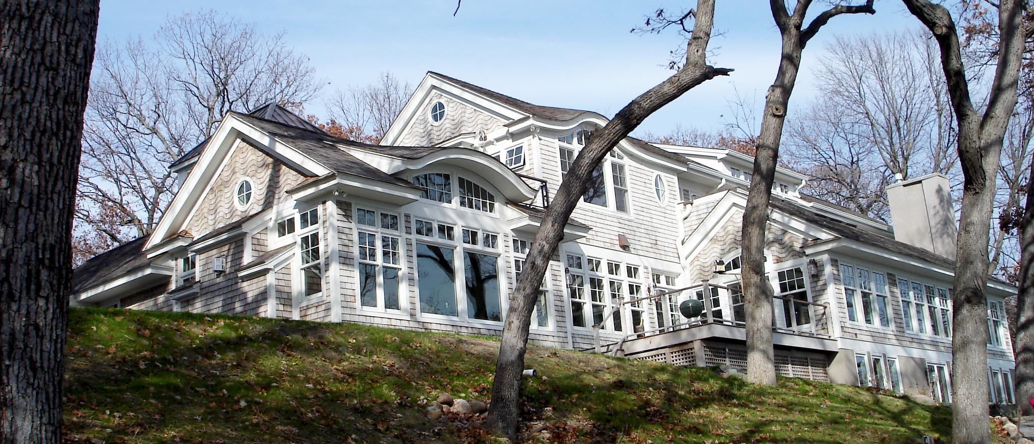 Back of North Oaks Lake Home