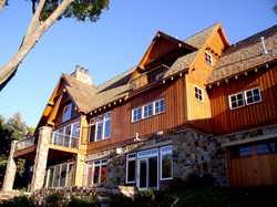 Back Western Lodge Lake Home