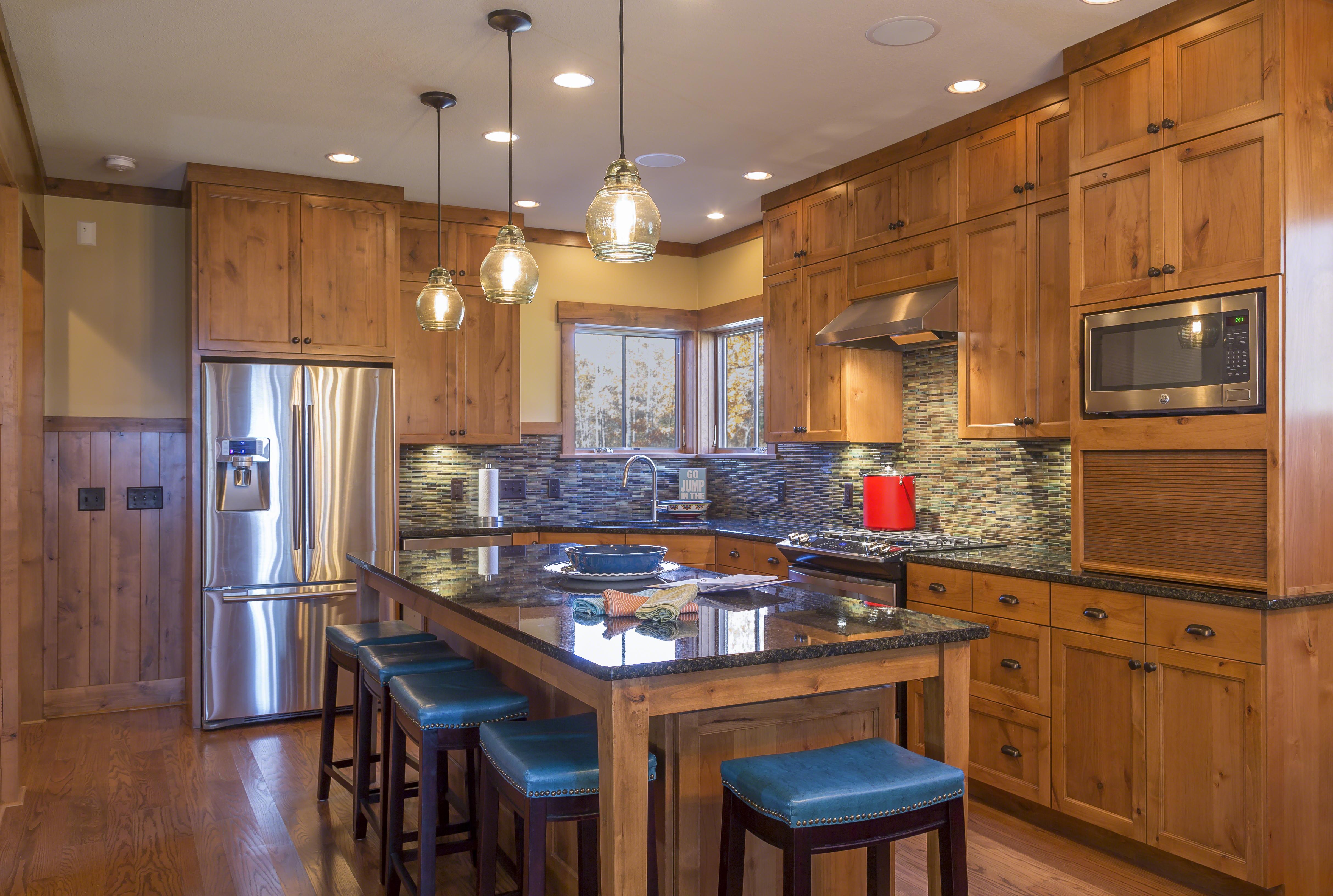 Kitchen North Woods Lake Cabin