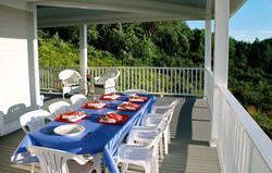 Porch View Penobscot Bay Summer Home
