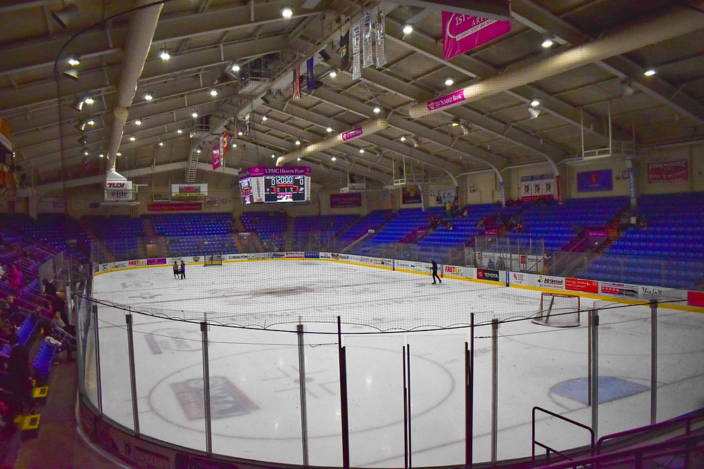 1st Summit Arena in Johnstown Pa before a hockey game between Johnstown Tomahawks and Team USA on October 3 & 4 2020