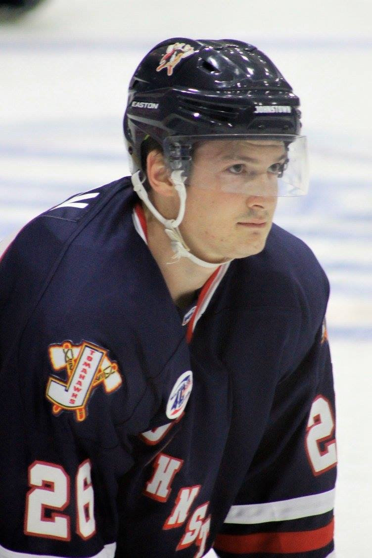 Tommy Horn playing for the Johnstown Tomahawks