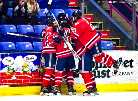 Tomahawks Score Six Straight for Come-From-Behind Victory on Sunday Night - Drop OT Game on Monday