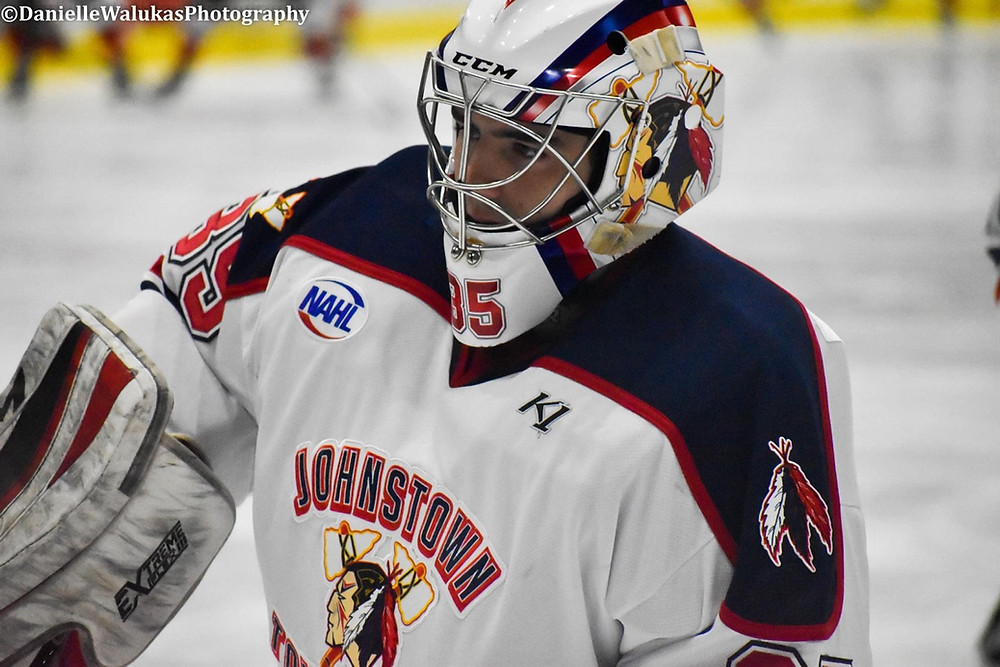 Former Tomahawks goalie, Alex Tracy, was drafted today again by Johnstown.