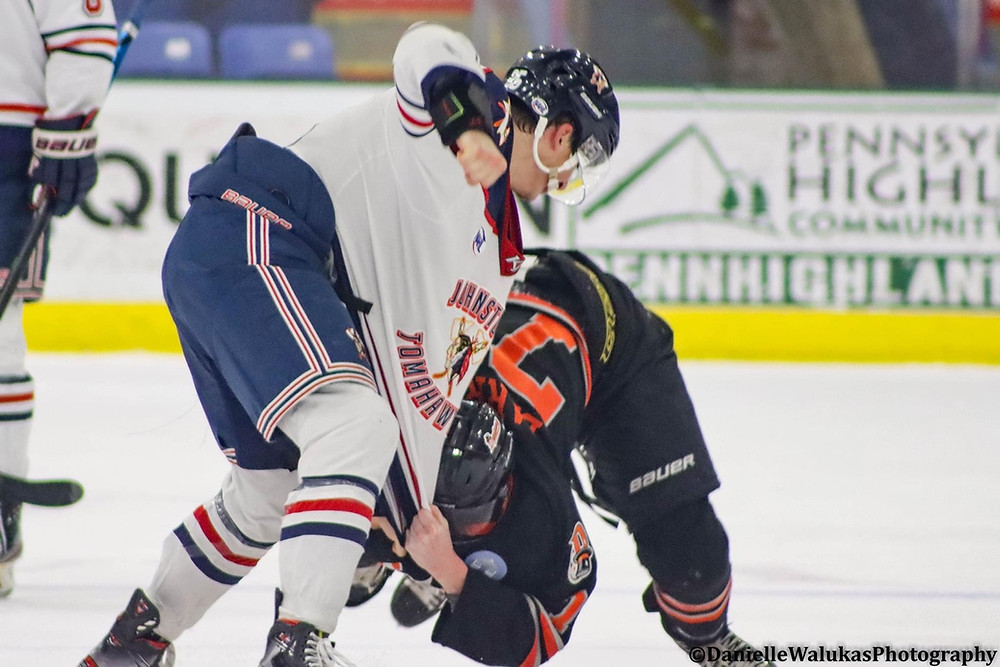 Johnston Tomahawks vs Danbury Jr Hattricks NAHL 2020-2021 season