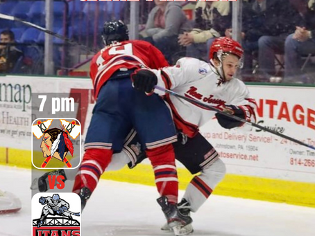 Tomahawks Travel to New Jersey Tonight For One Game