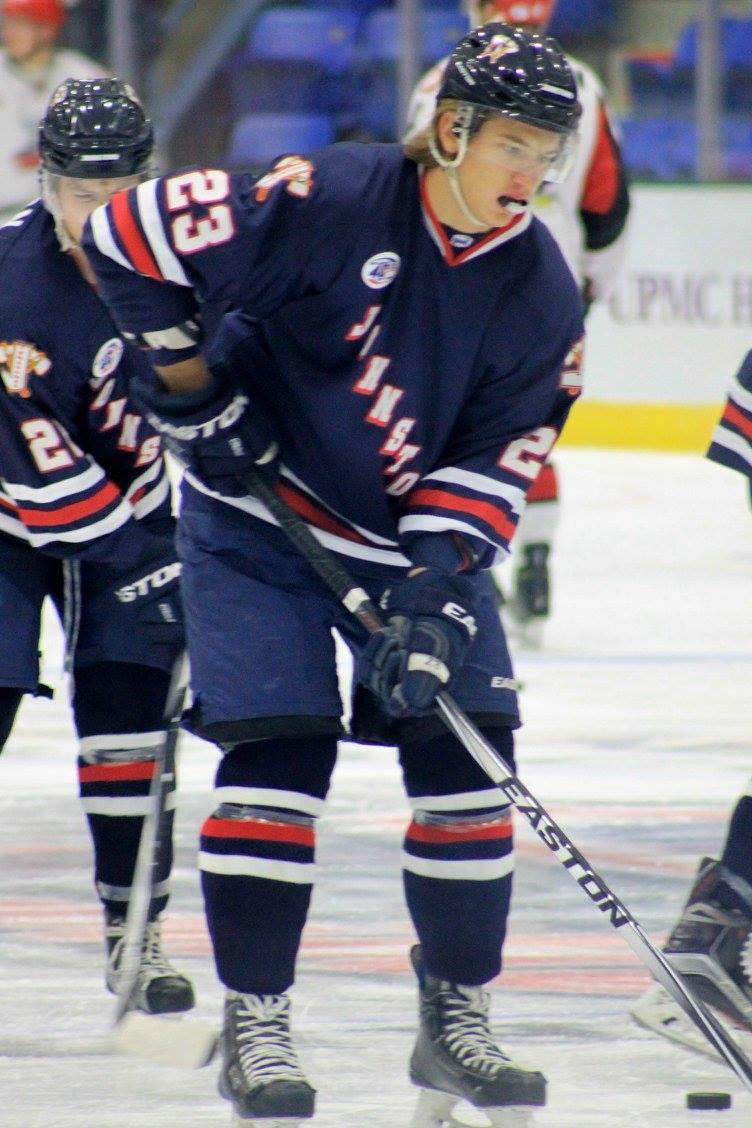 Filips Buncis junior hockey time in Johnstown for the Tomahawks
