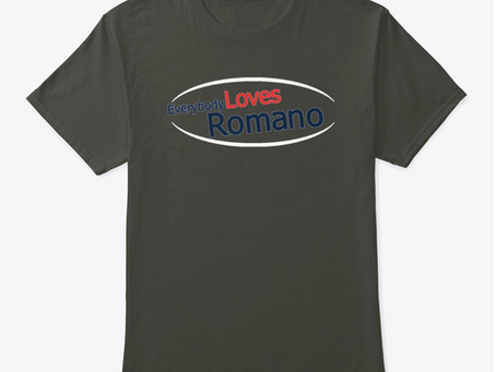 """""""Everybody Loves Romano"""" Merchandise Now Available"""