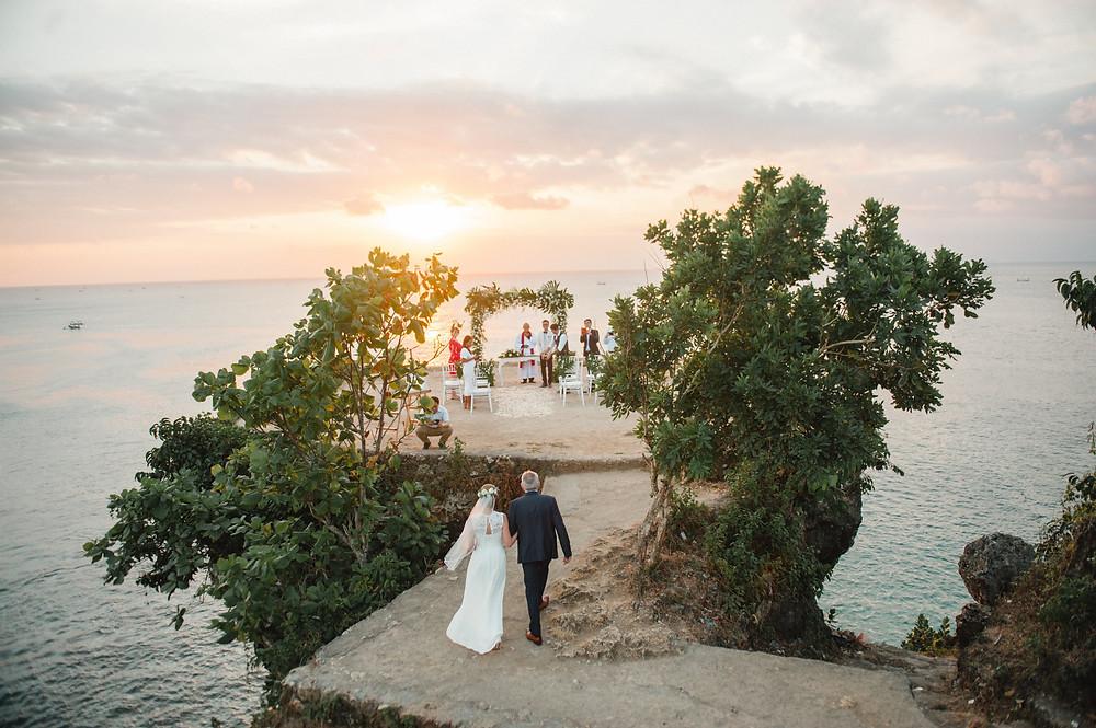 Cliff Top Wedding in Bali
