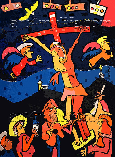 LA VIRGEN MARÍA LE REGALA A CRISTO EN UNA BOTELLITA EL CIELO. Efraín Ricardo Uribe Moya. art4