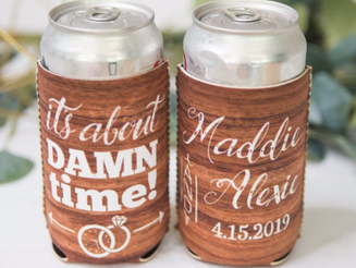 Practical wedding favours for a destination wedding in the tropics.