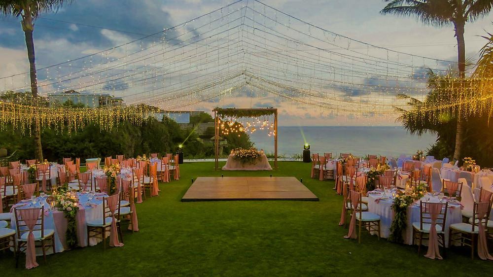 Bali Cliff Top Reception Wedding