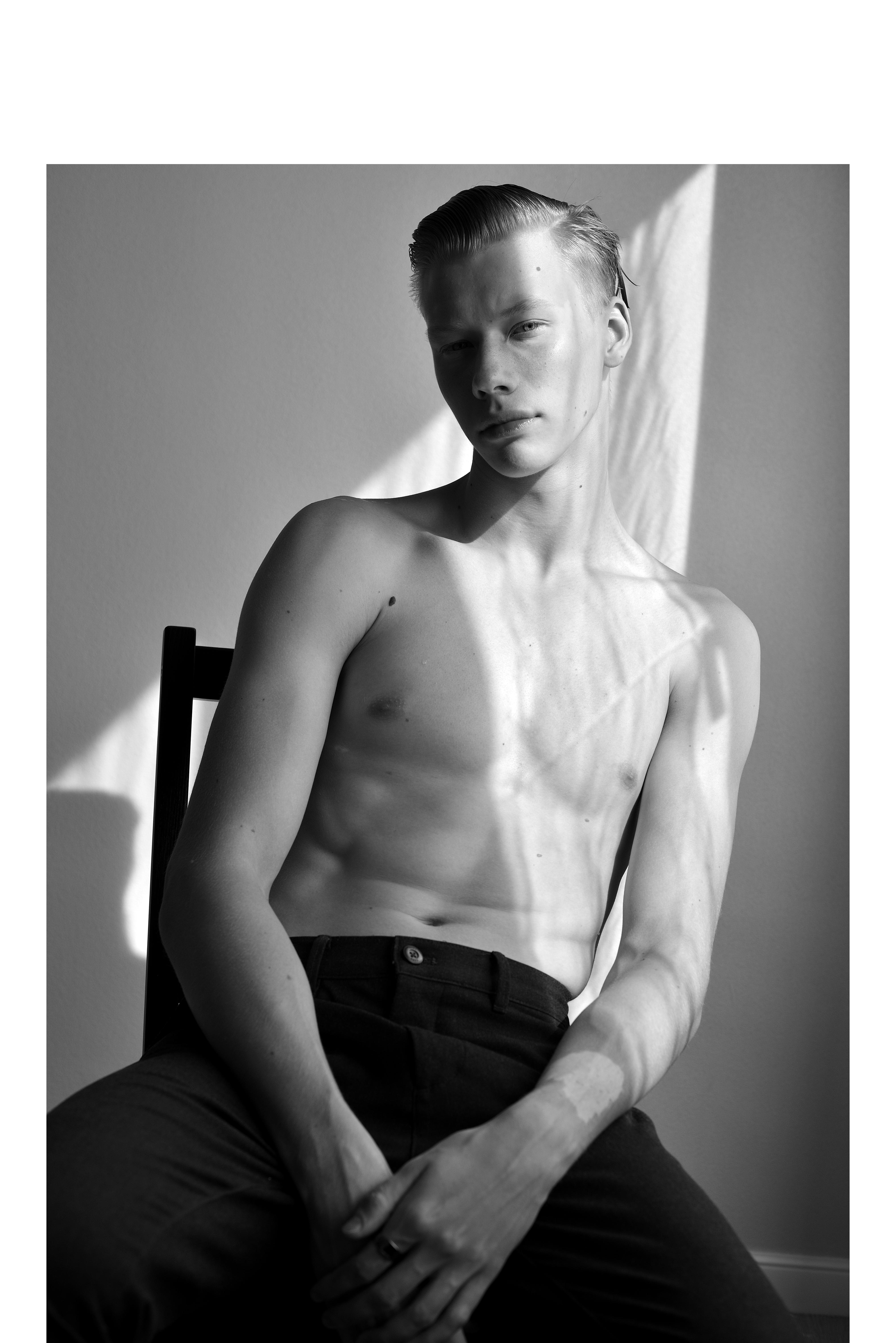 Russian new face male model Pavel Nirsha