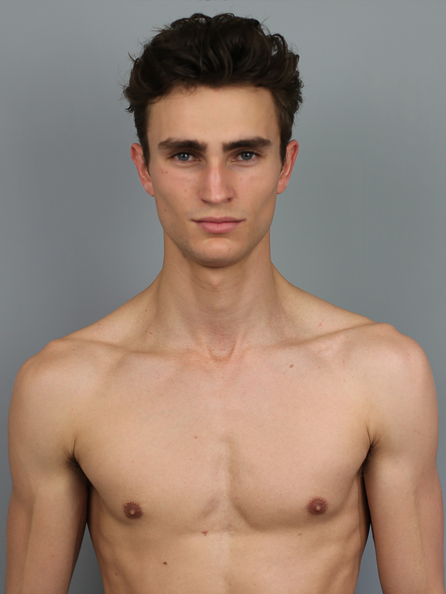 sexy topless male model