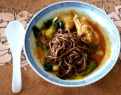Noodles and Chicken Curry