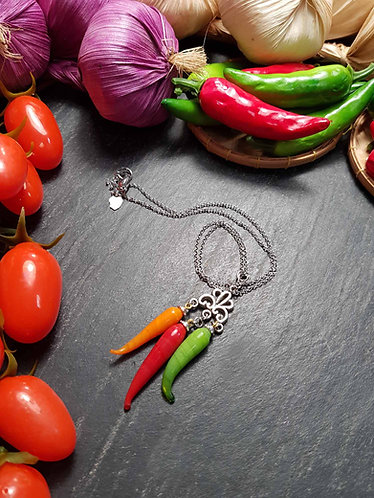 "Collier original ""Rougail 3 piments"" - 2817B"