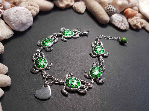 Bracelet tortues St-Leu à la queue Leu-Leu - 3122