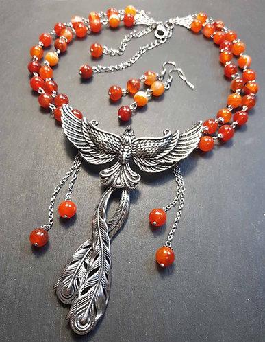"""Parure originale imposante """"L'envol du phoenix"""" - 3155"""