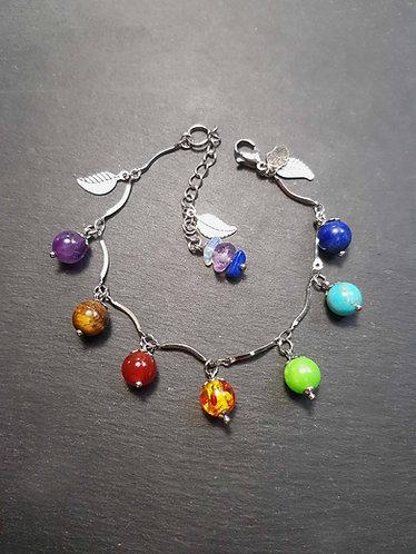 Bracelet les 7 perles du chakra - 3129B