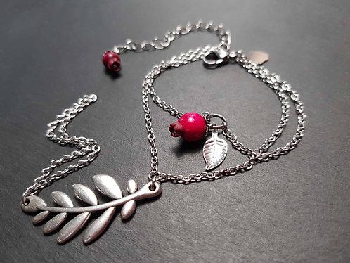 Bracelet de main goyaviers et feuillage - 3098