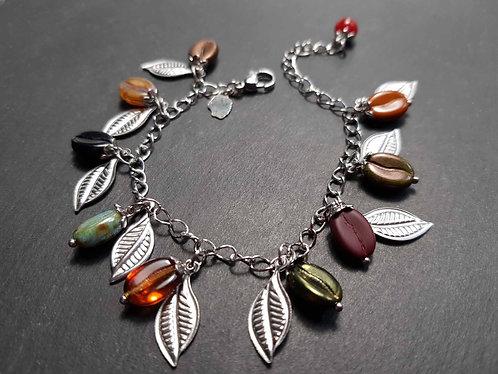 Bracelet original grains de café multicolores en breloques – 2875