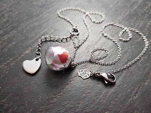 """Collier bulle d'Amour """"Mi aime a ou"""" - 3051"""