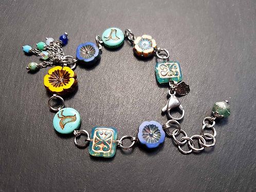 """Bracelet original """"Des fleurs et des zoizos"""" - 3171"""