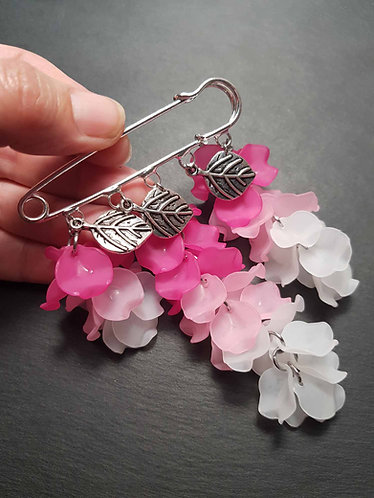 Broche-épingle bougainvilliers - 3097