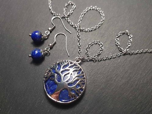 """Parure """"Arbre de Vie"""" lapis-lazuli – 2739"""