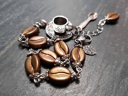 Bracelet original grains de café & mini tasse – 2874
