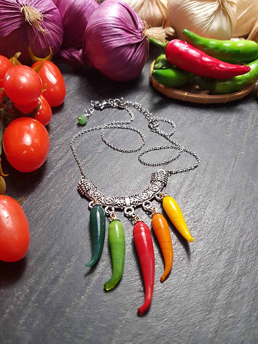 "Collier original ""Rougail 5 piments"" -3004"