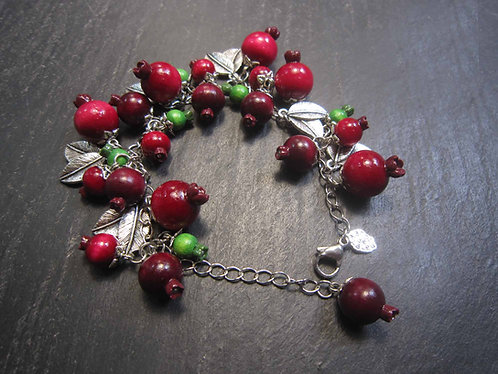 "Bracelet acier inoxydable original ""Goyaviers par milliers..."""