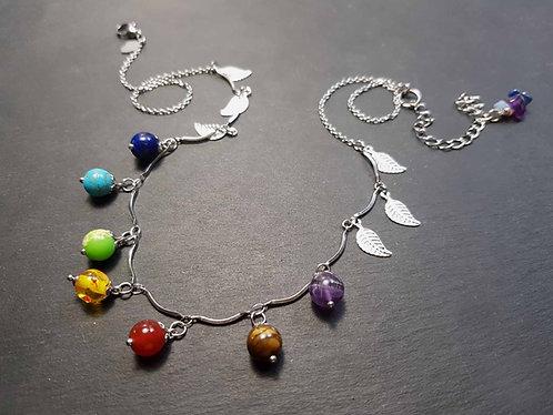 Collier les 7 perles du chakra - 3129C