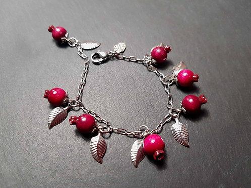 Bracelet PETITE FILLE mini goyaviers et feuilles