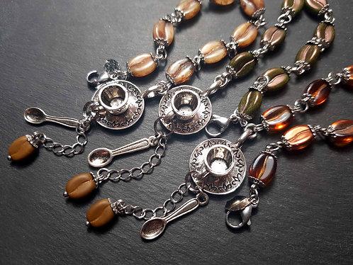 Bracelet original grains de café & mini tasse – 2874