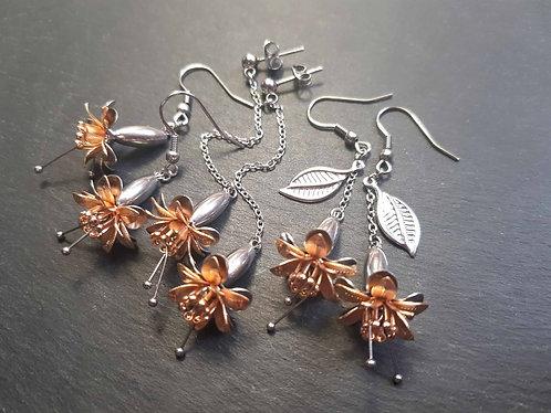 Boucles florales fuchsia ou clochettes, modèle AU CHOIX - 3130