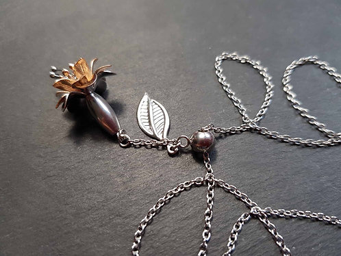Collier floral fuchsia ou clochettes - 3131