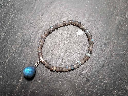 Bracelet élastique original goutte labradorite -2862