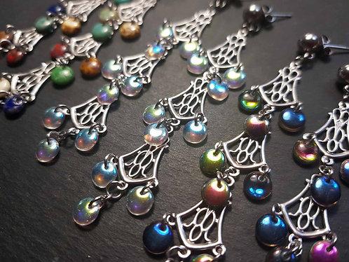 """Boucles chandeliers """"Shéhérazade"""", couleurs AU CHOIX - 3126"""