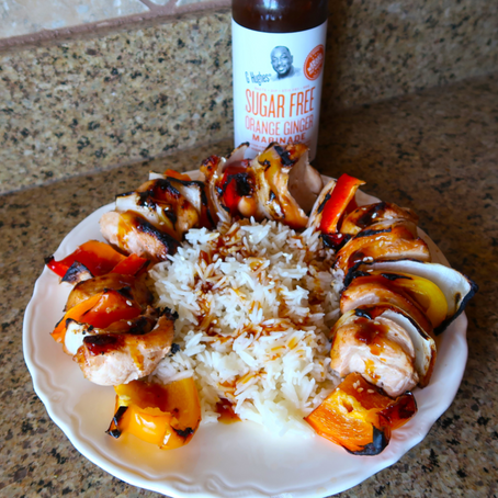 Orange Ginger Chicken Kabobs